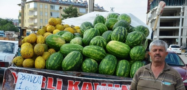 Seydişehir'de Karpuz Ve Kavun Yüz Güldürdü