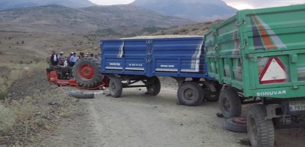 Seydişehir'de Traktör Devrildi: 2 Yaralı