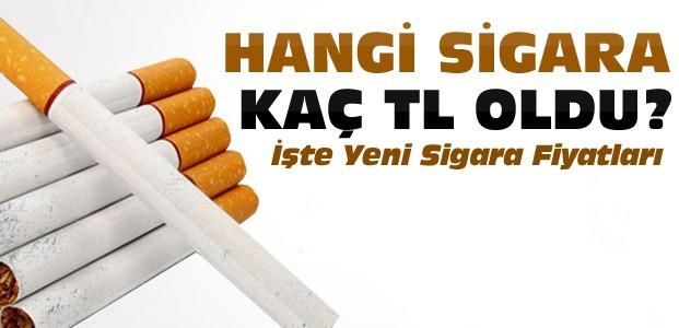 Sigaraya Zam-İşte Zamlı Sigara Fiyatları