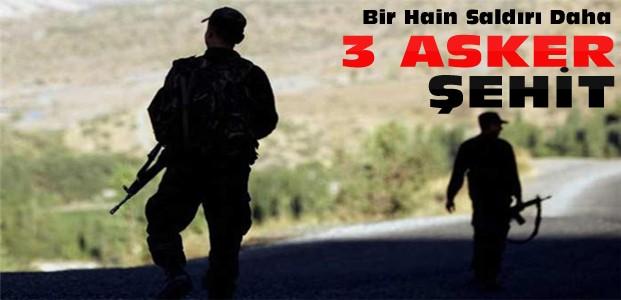 Şırnak'ta Askere Saldırı:3 Şehit Daha