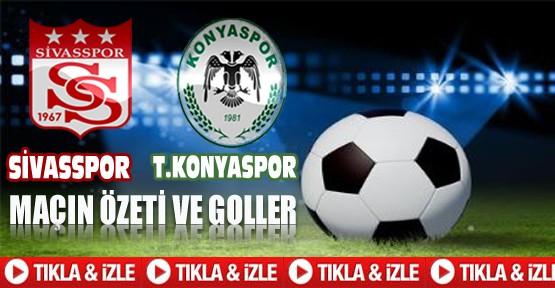 Sivasspor Konyaspor Maçı Geniş Özet ve Golleri-Tıkla İzle