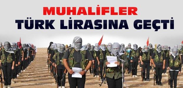 Suriye'de Türk Lirasına Geçtiler