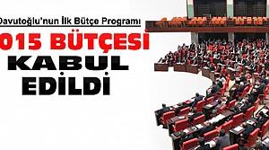 2015 Yılı Bütçesi Mecliste Kabul Edildi