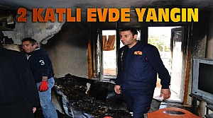 2 Katlı Evde Çıkan Yangın Söndürüldü