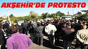 Akşehir'de Bariyer Protestosu