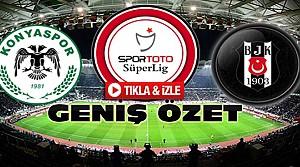 Atiker Konyaspor-Beşiktaş-ÖZET-VİDEO