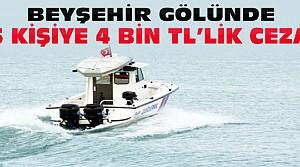 Beyşehir Gölünde 5 Kişiye Av Cezası