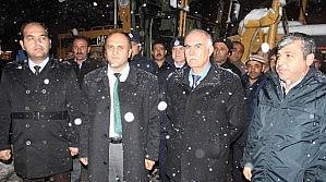 Beyşehir'de Karla Mücadele Çalişmalari