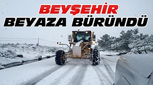 Beyşehir'de Yoğun Kar Yağışı