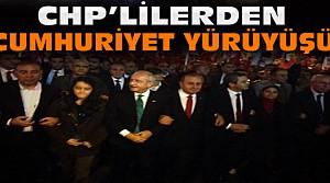 CHP'liler Cumhuriyet İçin Yürüdüler