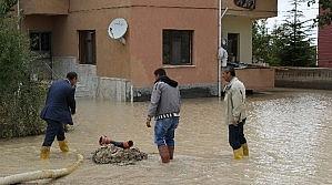 Cihanbeyli'de Yağmur Sonrası Çalışma
