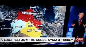 CNN'den Kürdistan Haritası