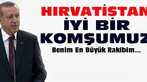 Cumhurbaşkanı Erdoğan Hırvatistan'da konuştu