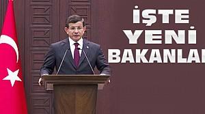 Davutoğlu Seçim Hükümetinin Bakanlarını Açıkladı