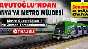 Davutoğlu'ndan Konya'ya Metro Müjdesi-VİDEO