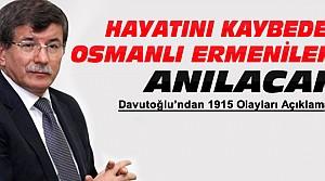 Davutoğlu'ndan Osmanlı Ermenileri Açıklaması