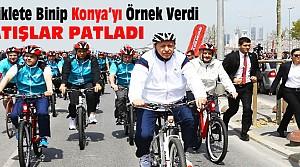 Erdoğan Bisiklete Binip Konya'yı Örnek Verdi