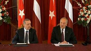 Erdoğan Letonya'da