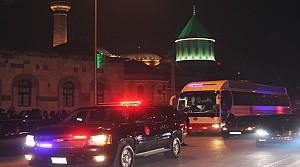Erdoğan ve Davutoğlu'ndan Mevlana'ya Ziyaret