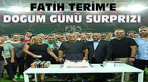 Fatih Terim'e Konya'da Doğum Günü Sürprizi