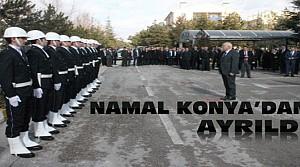 Hüseyin Namal Törenle Konya'dan Ayrıldı