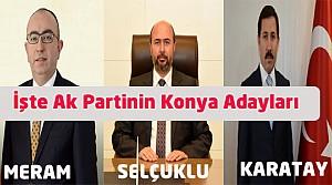 İşte Ak Partinin Konya Başkan Adayları