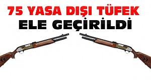 Kargoyla Gönderilen Yasa Dışı Tüfeklere El Konuldu