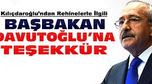 Kılıçdaroğlu'ndan Başbakan'a Teşekkür