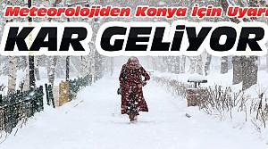 Konya İçin Kar Yağışı Uyarısı