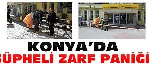 Konya PTT Şubesinde Şüpheli Zarf Paniği