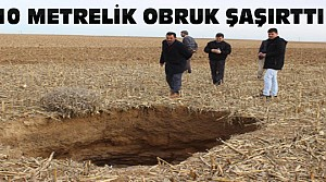 Konya'da 10 M. Derinliğindeki Obruk Korkuttu