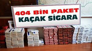 Konya'da 404 Bin 500 Paket Kaçak Sigara Ele Geçirildi