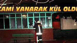 Konya'da 90 Yıllık Cami Yanarak Kül Oldu