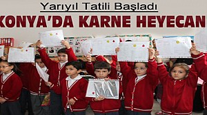 Konya'da 935 Bin Öğrenci Yarıyıl Karne Aldı