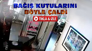 Konya'da Bağış Kutularını Çalıp Kaçtı-VİDEO