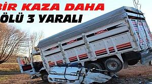 Konya'da Bir Kaza Daha:1 Ölü 3 Yaralı