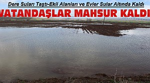Konya'da Dere Suları Taştı