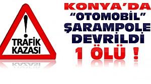 Konya'da Feci Kaza:1 Ölü 3 Yaralı