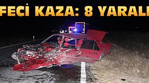 Konya'da Feci Kaza:İki Otomobil Çarpıştı