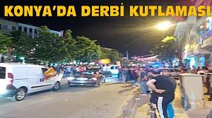 Konya'da Galatasaraylılardan Derbi Kutlaması