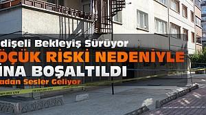Konya'da göçük tehlikesi tüm binayı boşalttırdı