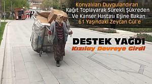 Konya'da Herkesi Duygulandıran Kadına Destek