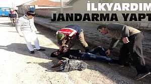 Konya'da Jandarmadan Olay Yerinde İlkyardım
