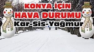 Konya'da Kar Yağışı Var mı? İşte Hava Durumu