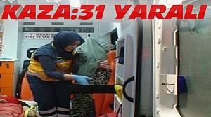 Konya'da Kaza:31 Suriyeli Yaralandı