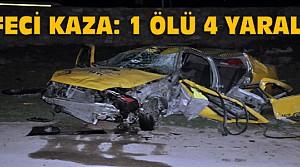 Konya'da Kaza: 1 Ölü 4 Yaralı