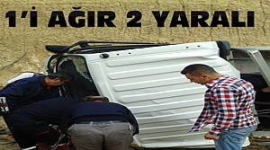 Konya'da Kaza: Kamyonet Devrildi