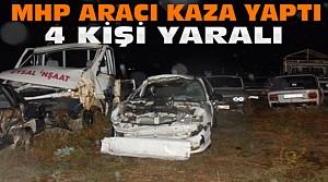 Konya'da MHP'lileri Taşıyan Araç Kaza Yaptı