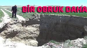 Konya'da O Bölgede Bir Obruk Daha Oluştu