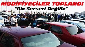 Konya'da Modifiyeciler Toplandı-Yer İstiyoruz